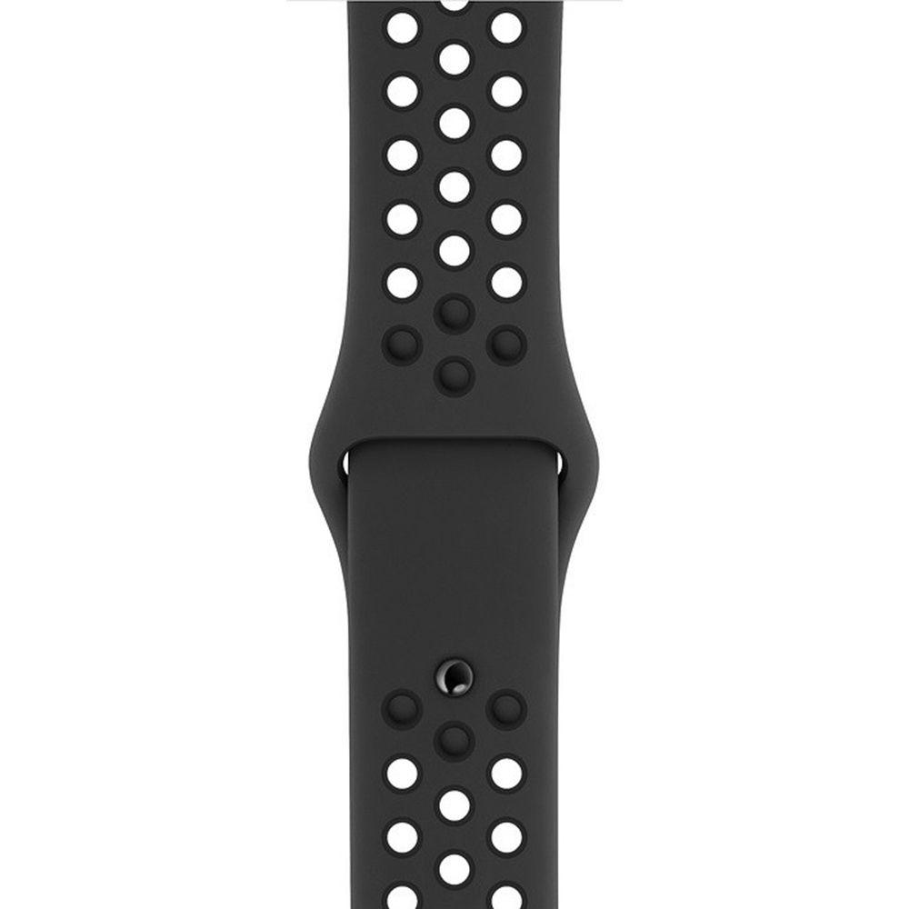 Pulseira Sport Silicone Nk Furo Para Apple Watch 1 2 3 4- 42/44mm - Preto e Preto