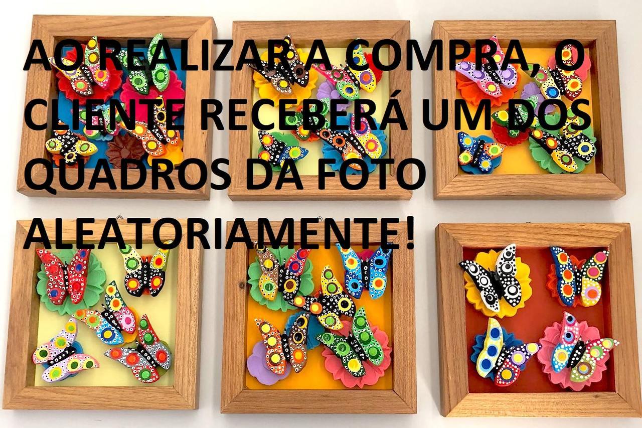 Quadros de decoração em Madeira com Borboletas. Quartos, varandas, salas, cozinha (6x6 cm).