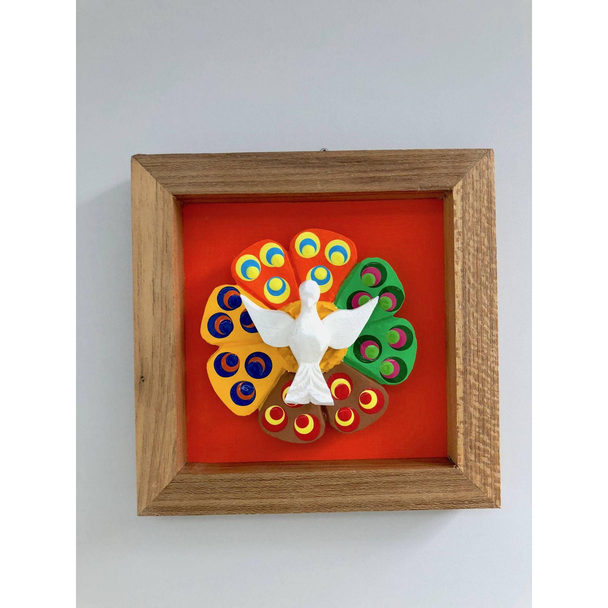 Quadros de decoração em madeira com Divino. Quartos, varandas, salas, cozinha (6x6 cm).