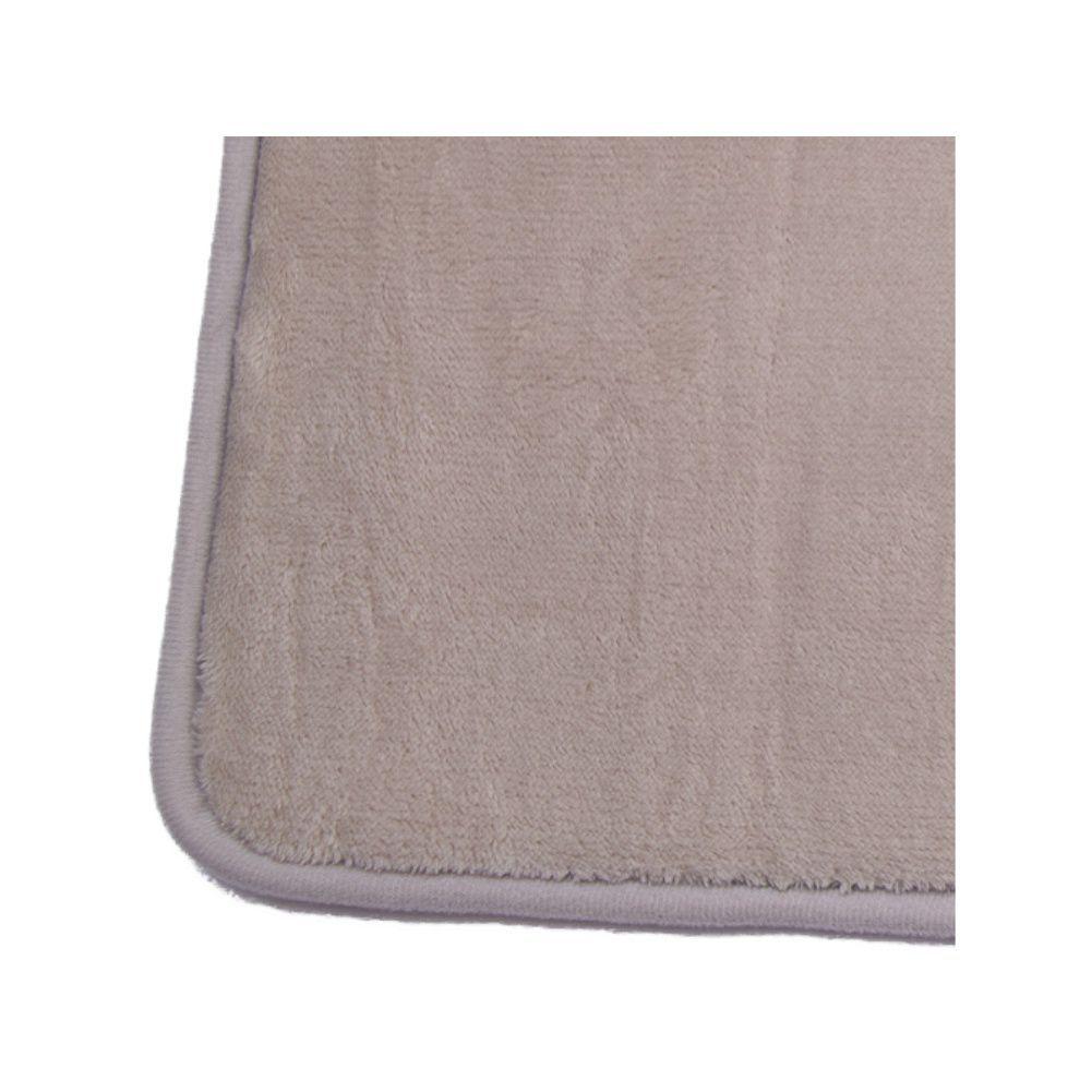 Tapete de Banheiro kit com 2 cinza claro super soft com espuma viscoelastica