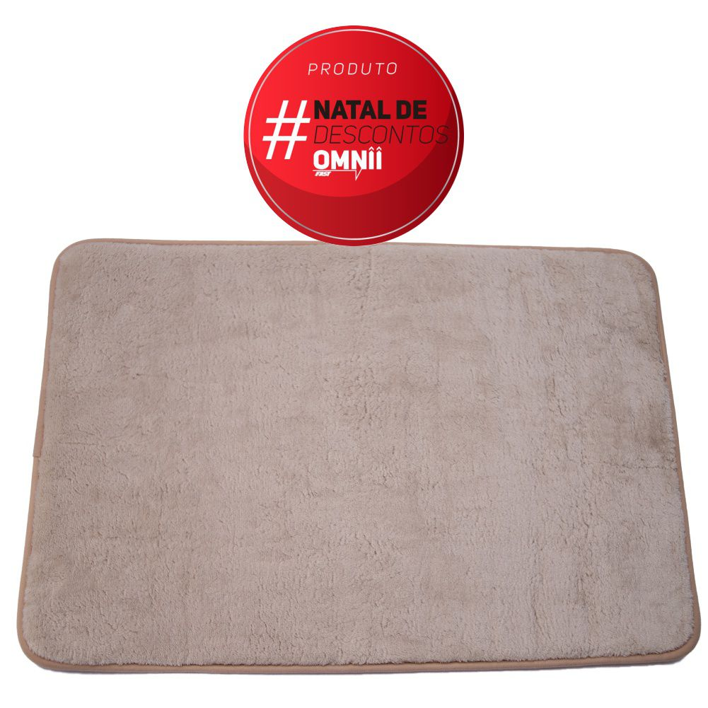 Tapete de Banheiro kit com 2 cinza super soft com espuma viscoelastica