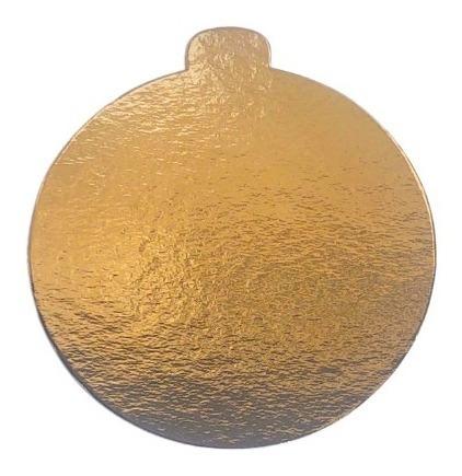 100 Base Laminada Dourada Redonda Para Doces 10 Cm Cake board