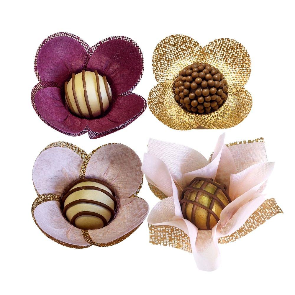 100 Forminhas Para Doces Acalenta Cestinha e Tulipa em tela e tecido