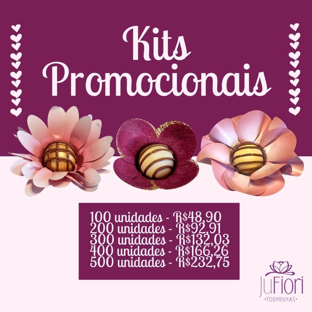 200 Forminhas Para Doces Margarida e Peônia em Papel e Tulipa em tecido