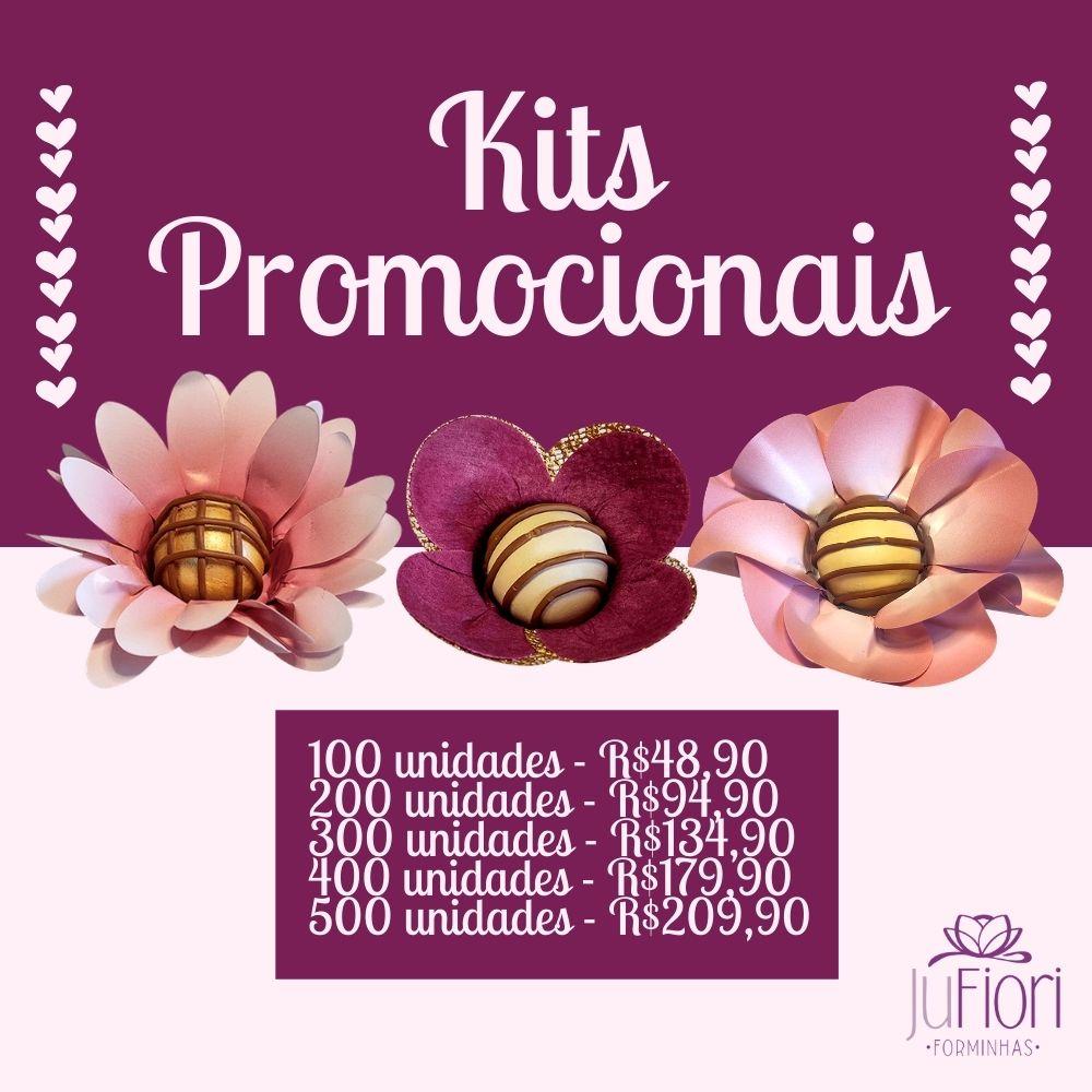400 Forminhas Para Doces Margarida e Peônia em Papel e Tulipa em tecido