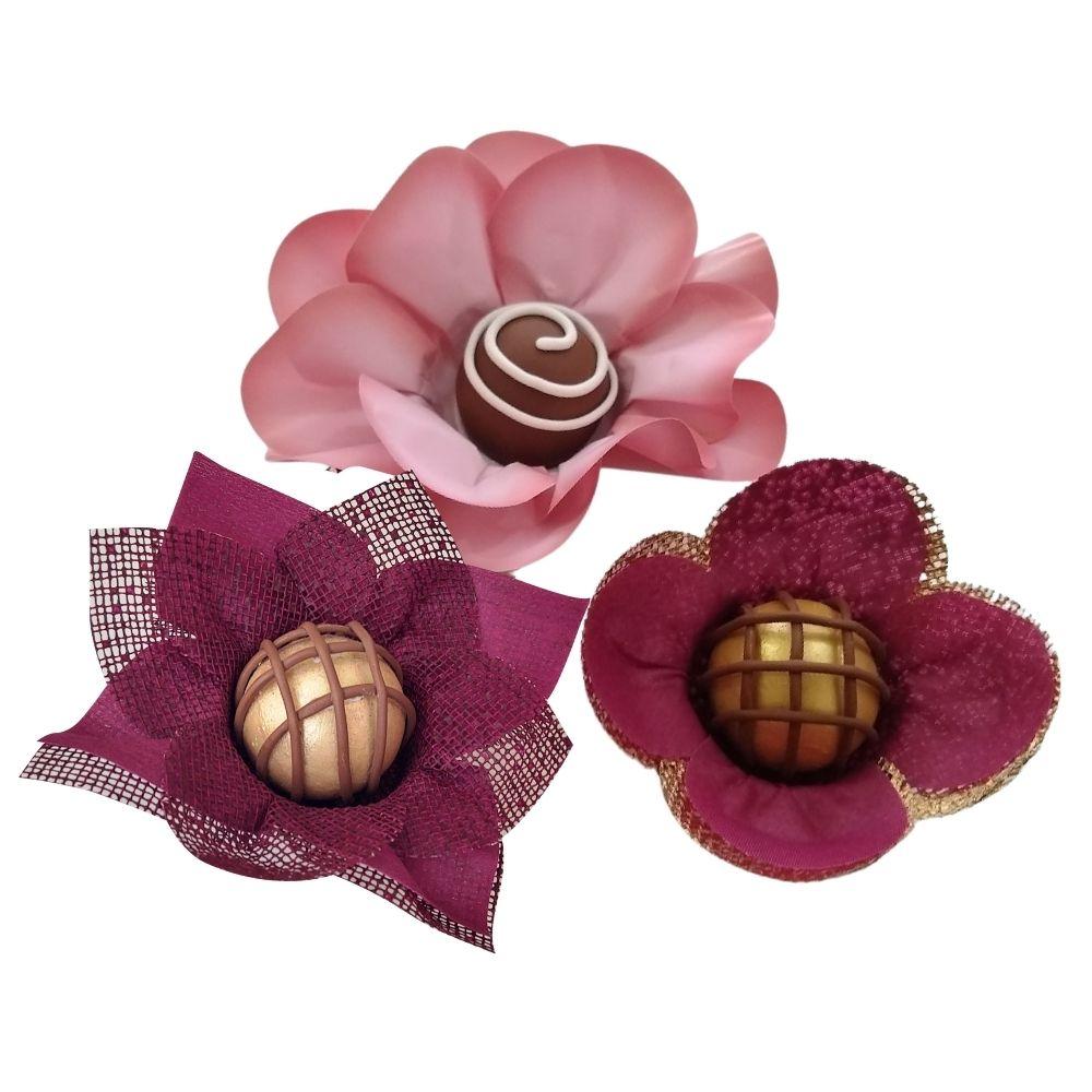 400 Forminhas Para Doces Margarida Rosa Nobre e Tulipa em Tela e  Tecido