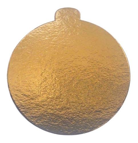 50 Base Laminada Dourada Redonda Para Doces 10 Cm Cake Board