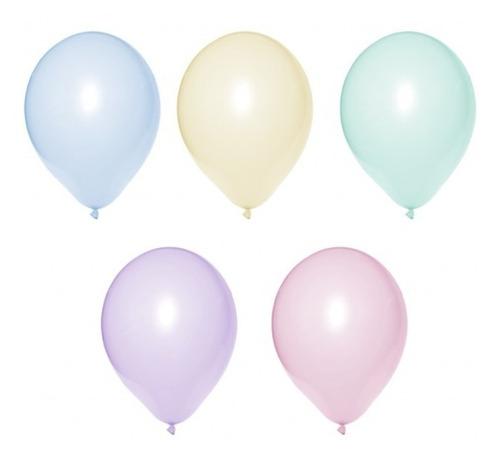 Balão Bexiga Candy Colors Sortida Tamanho 9 - 50 Unidades
