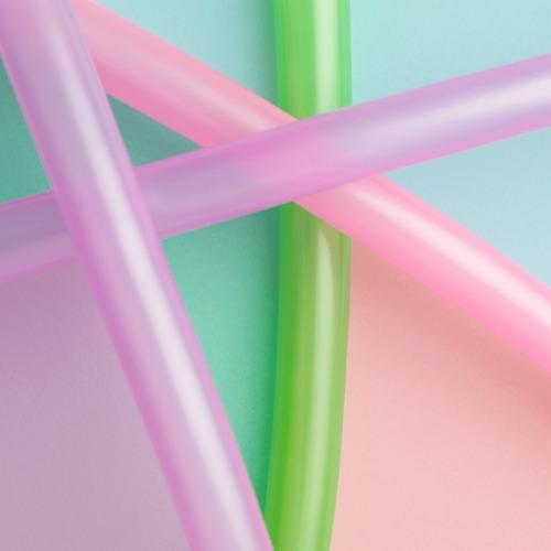 Balão Bexiga Canudo Candy Colors Sortido 50 Unds - Tam. 260