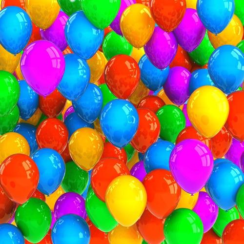 Balão Bexiga Festa Neon 50 Unidades - Número 9 Ju Fiori