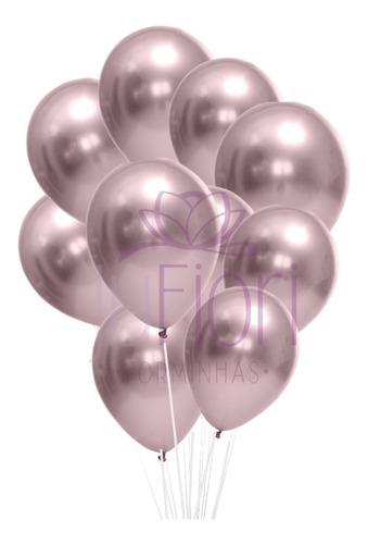 Balão Bexiga Metalizado Lilas Cromado 25 Unidades N9