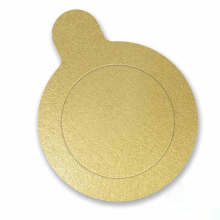 Base para Doces Laminada Dourada tamanho 3,5 cm 100 Unidades