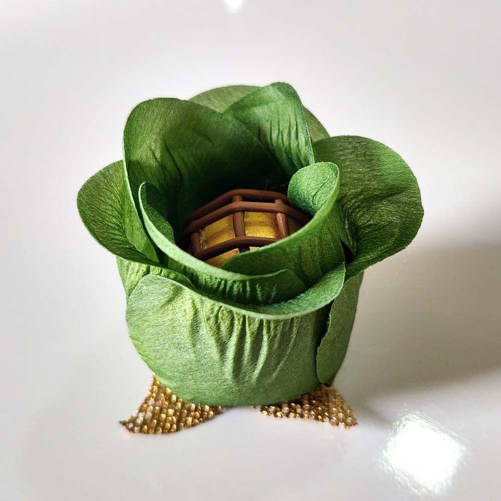 Forminhas de Flor para Doces Finos Modelo Rosa Botão em Tecido 25 Unidades