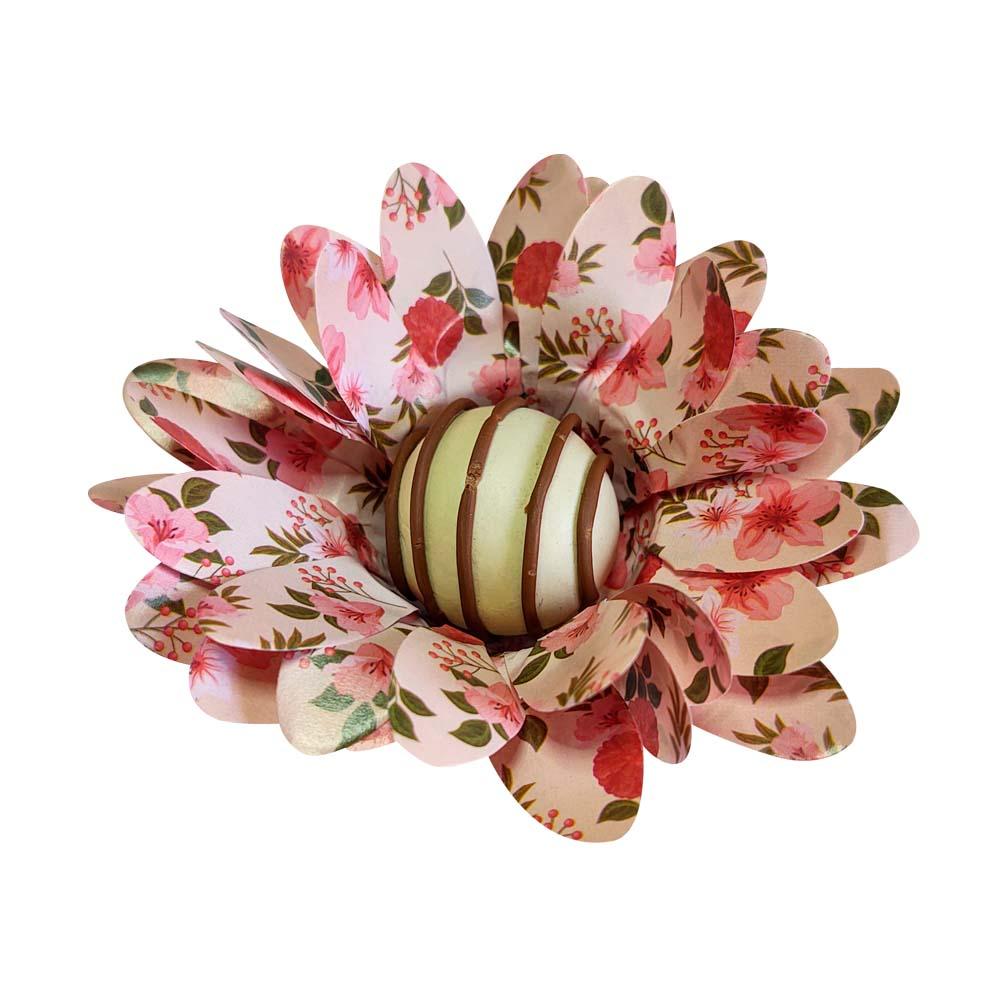 Forminhas Doces Modelo Peonia em Papel Especial Floral 50 Unidades Pronta Entrega