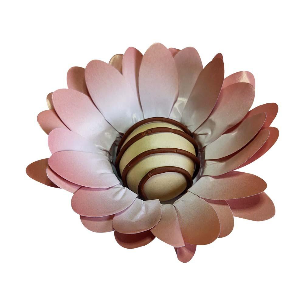 Forminhas Doces Modelo Peonia em Papel Especial Rose Gold 50 Unidades Pronta Entrega