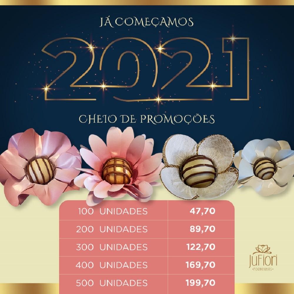 Forminhas para Doces 200 Unidades Tulipa Margarida Mini Margarida e Peonia