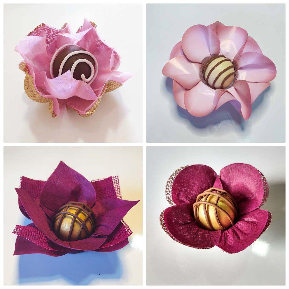 Forminhas para Doces Finos 500 Unidades Lotus Margarida Tulipa e Jasmim