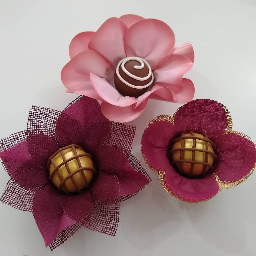 Forminhas para Doces Finos Kit 200 Unidades Rosa Nobre Tulipa Margarida