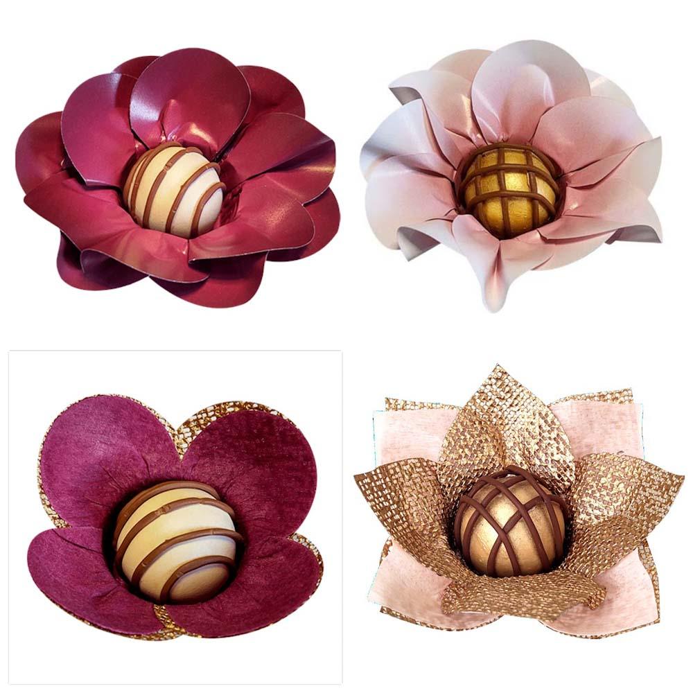 Forminhas para Doces Finos Kit 400 Tulipa Margarida Rosa Nobre em Tela e Tecido