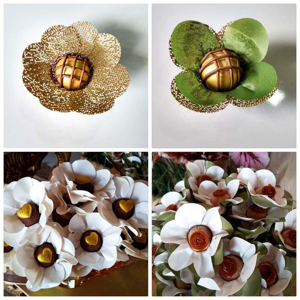 Forminhas para Doces Finos Kit 400 Margarida Unica e Tulipa em Tela Escócia e Tecido