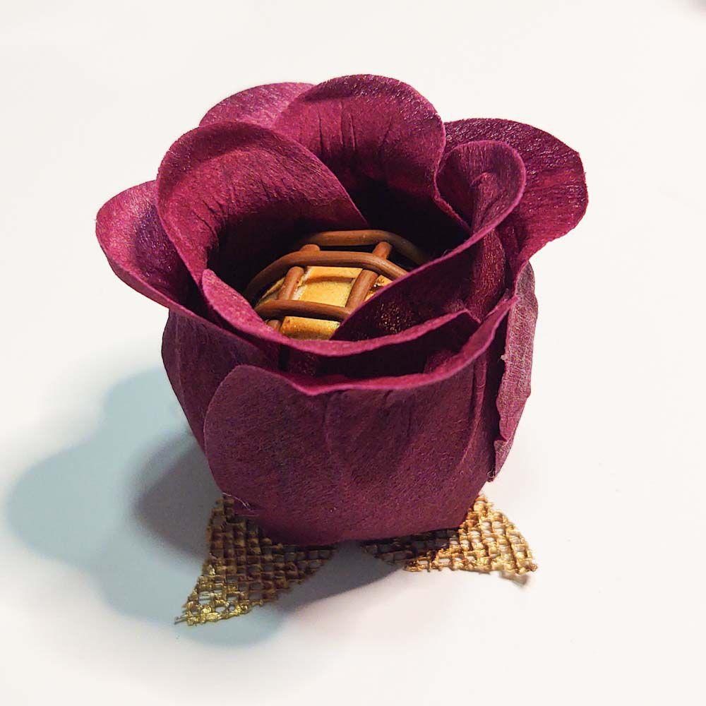 Forminhas para Doces Finos Modelo Rosa Botão 300 Unidades