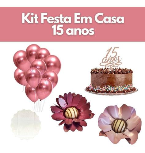 Kit Festa 15 Anos Fominhas Doce Topo De Bolo Balão Debutante