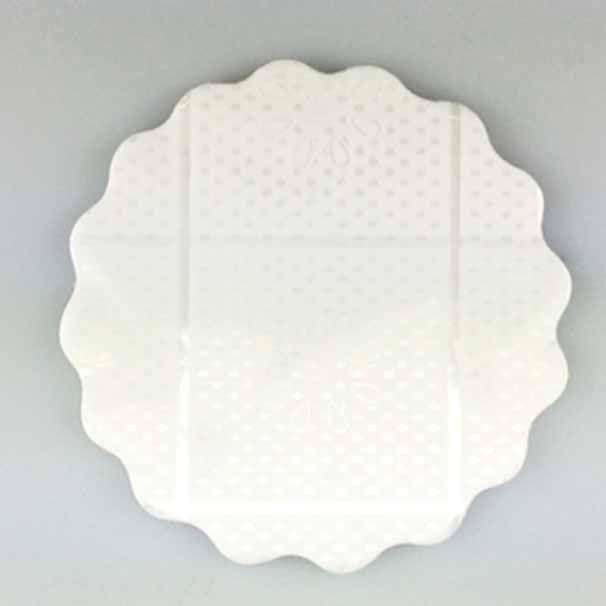 Tapetinhos para Doces em Celofane Branco Rendado 7cm 100 Unidades Fundo de Doce