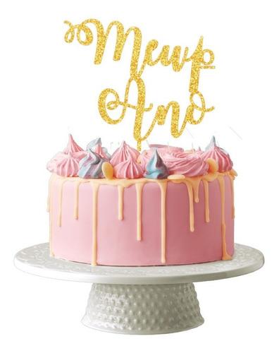 Topo De Bolo Decoração Aniversario Festa Meu Primeiro Ano