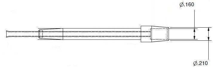 1121-0951 Ponta de limpeza de 1,02mm para dessoldadora SX-100