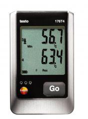 176 T4 - Data Logger medição de temperatura 4 canais por sonda com display
