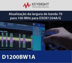 D1200BW1A - Atualização da largura de banda 70 para 100 MHz para DSOX1204A/G
