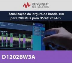 D1202BW3A - Atualização da largura de banda 100 para 200 MHz para DSOX1202A/G
