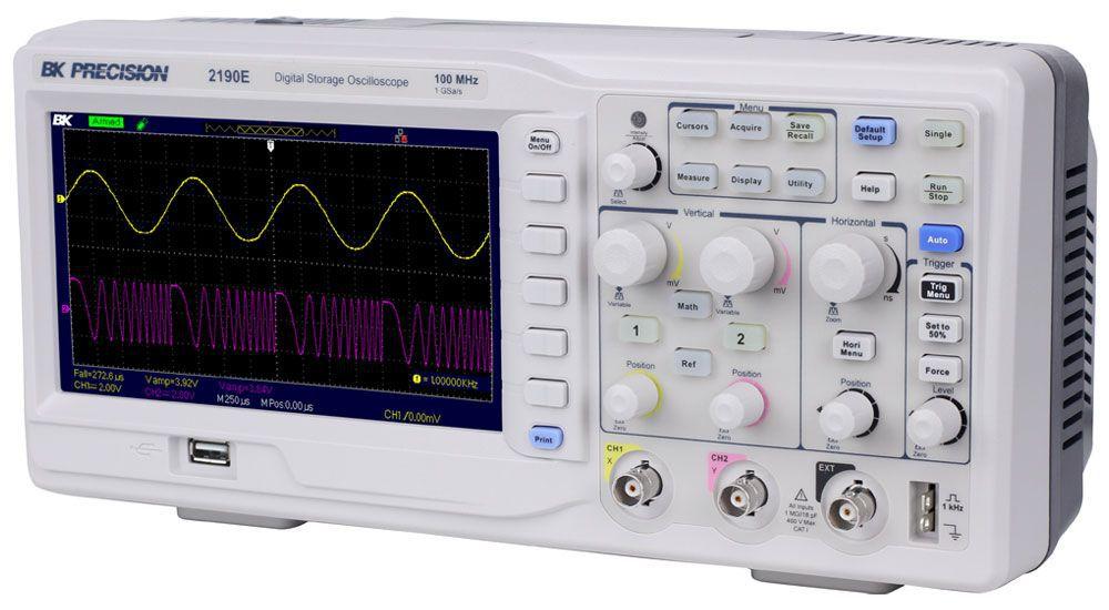 2190E - Osciloscópio Digital:  2 canais, 100 MHz