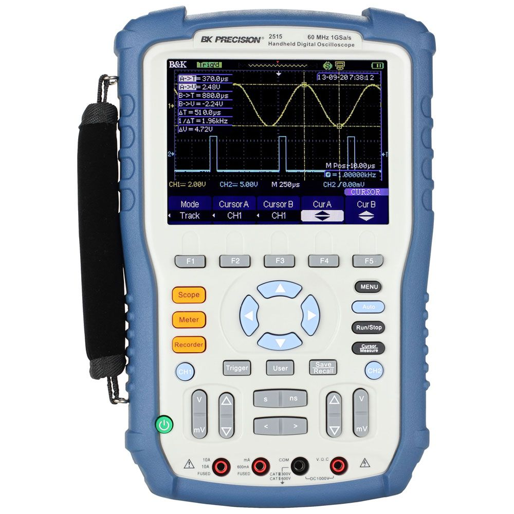 2515 - Osciloscópio portátil: 2 Canais Isolados, 60 MHz