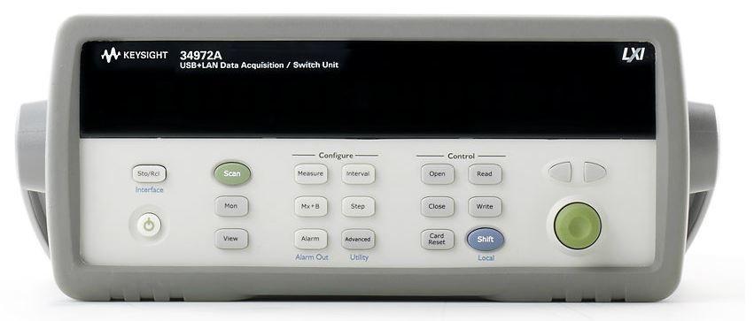 34972A - Aquisição de Dados (DAQ) de 6 ½ dígitos, comunicação USB