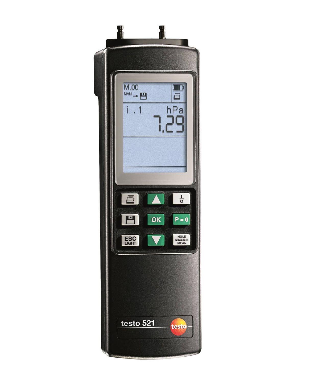 521-2 - Instrumento de medição de pressão diferencial de 0 a 100 hPa (exatidão ±0.1 % do valor final)