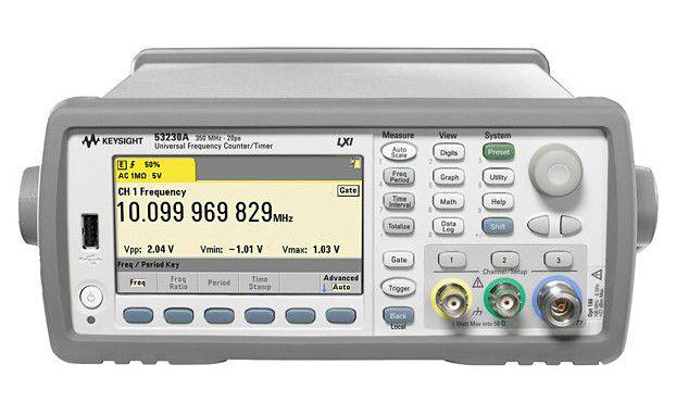 53230A - Frequencímetro de 350 MHz, 2 canais