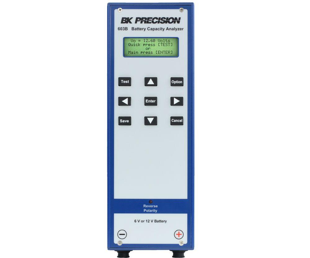 603B - Analisador de Capacidade de Baterias, 6 e 12V com Registrador de Dados