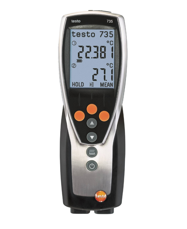 735-2 - Instrumento de medição de temperatura de 3 canais com memória e software para PC