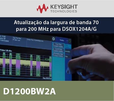 D1200BW2A - Atualização da largura de banda 70 para 200 MHz para DSOX1204A/G
