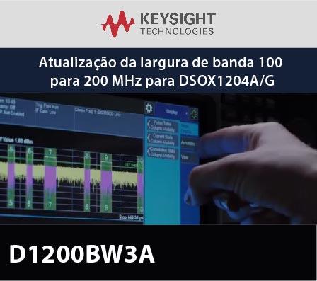 D1200BW3A - Atualização da largura de banda 100 para 200 MHz para DSOX1204A/G