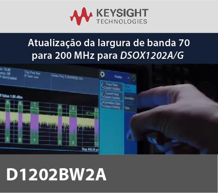 D1202BW2A - Atualização da largura de banda 70 para 200 MHz para DSOX1202A/G