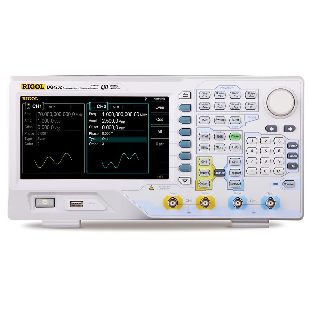 DG4202 - Gerador de funções arbitrário: 2 canais, 200 MHz