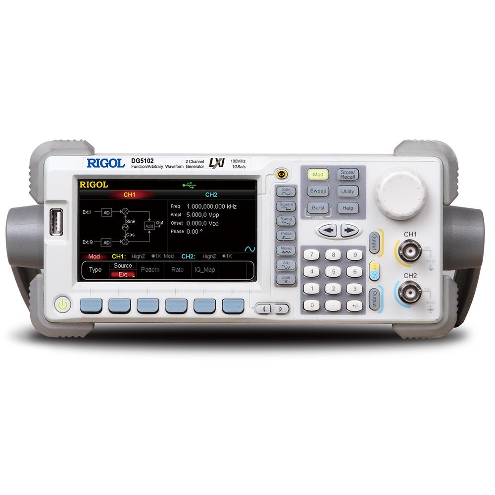 DG5102 - Gerador de funções arbitrário: 2 canais, 100 MHz