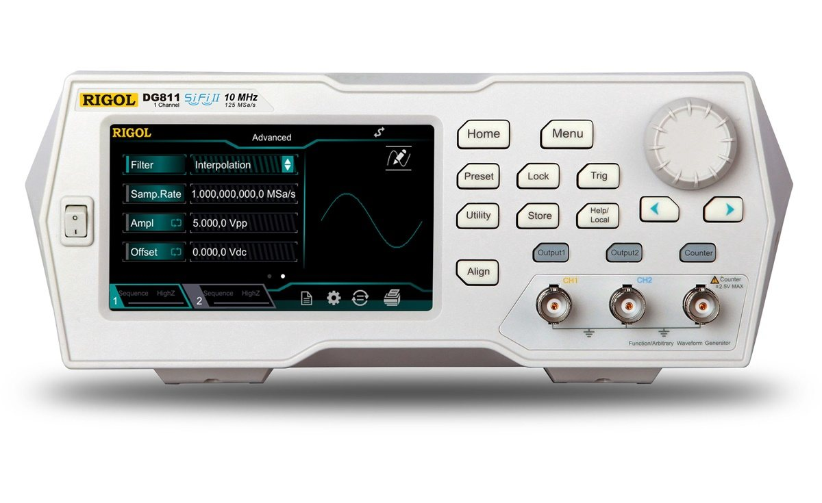 DG821 - Gerador de funções arbitrário: 1 canal, 10 MHz