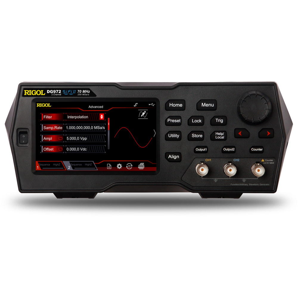 DG992 - Gerador de funções arbitrário: 2 canais, 100 MHz
