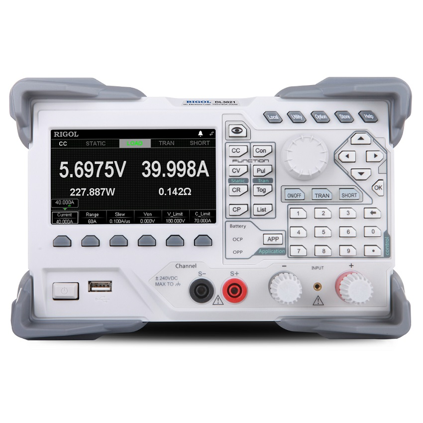 DL3021 - Carga Eletrônica: 1 canal, 150V/40A 200 W