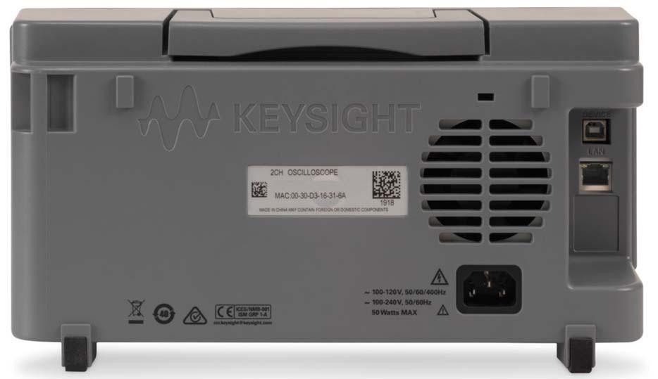 DSOX1202A - Osciloscópio Digital 70 MHz, 2 Canais