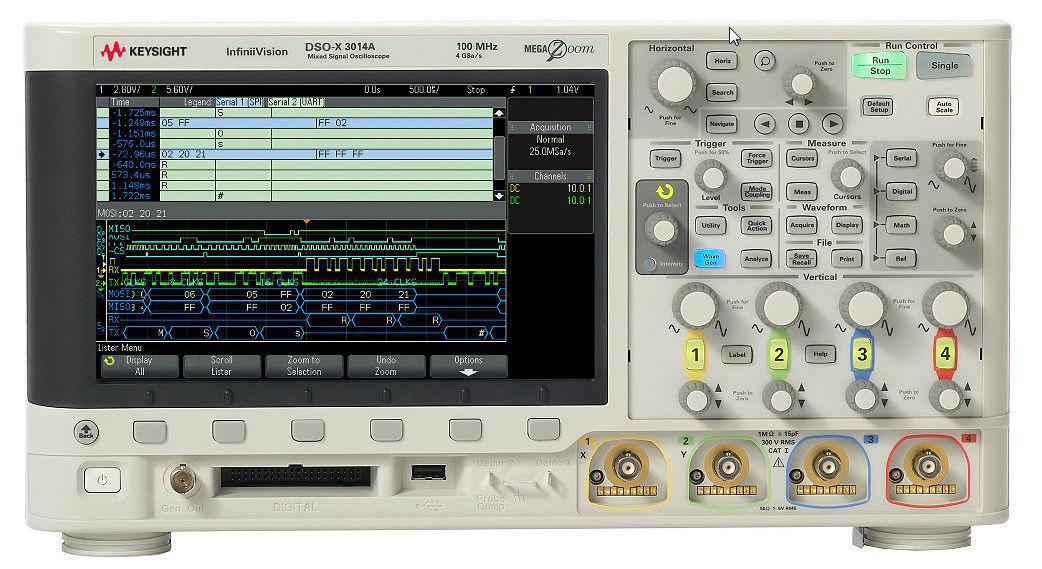 DSOX3034T - Osciloscópio Digital 350 MHz, 4 Canais