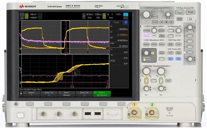 DSOX4022A - Osciloscópio Digitial 200 MHz, 2 Canais